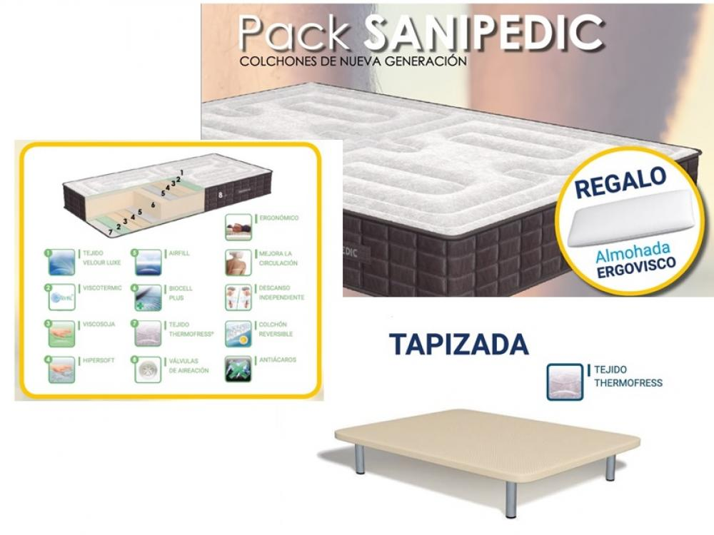 pack - colchón SANIPEDIC + base tapizada THERMOFRESS